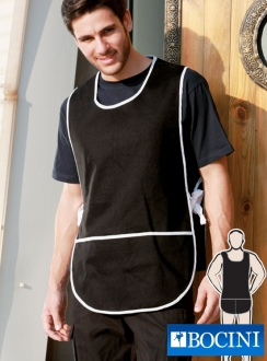Cotton Drill POPOVER APRON with POCKET