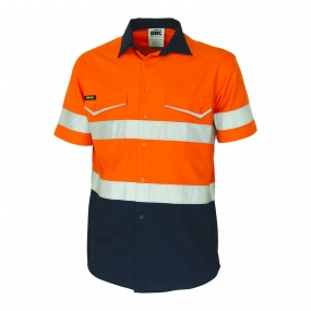 DNC 3587 HiVis 2 Tone Ripstop Shirt Reflective Tape SS