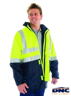 DNC 4 in 1 HiVis Breathable Reflective Jacket