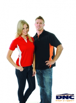 DNC Adult Cool-Breathe Side Panel Polo