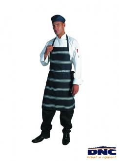 DNC Blue White Stripe Full Bib Apron