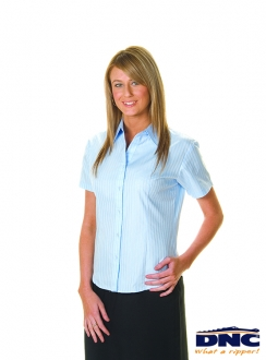 DNC Cotton Ladies Tonal Stripe S/S Shirt