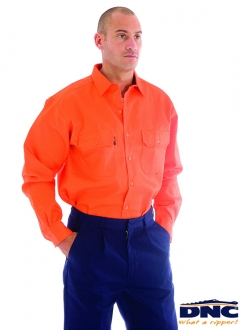 3402 DNC Flame Retardant Drill L/S Shirt