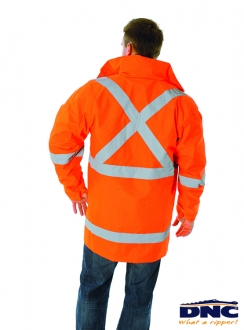 DNC HiVis D/N 2in1 Rian Jacket with X Back Generic R/Tape