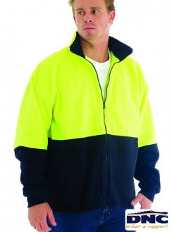 DNC HiVis Full Zip Polar Fleece Jumper