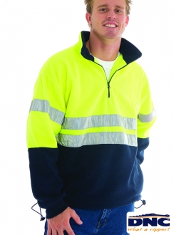 DNC HiVis Half Zip Polar Fleece With 3M Tape