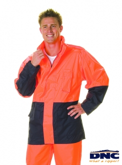 DNC HiVis Light Weight Rain Jacket