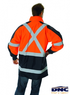 DNC HiVis  D/N 2-in-1 Contrast Panel Jacket with X Back R/Tape