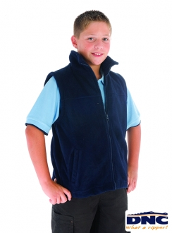 DNC Kids Full Zip Polar Fleece Vest