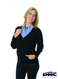 4332 Ladies Cardigan Wool Blend