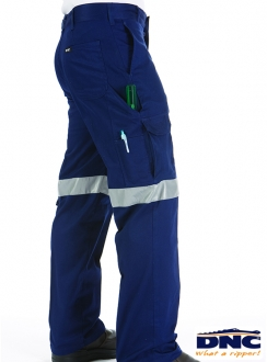 DNC Lightweight Cotton Cargo Pants with 3M Tape