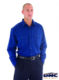 3212 DNC PolyCotton L/S Work Shirt