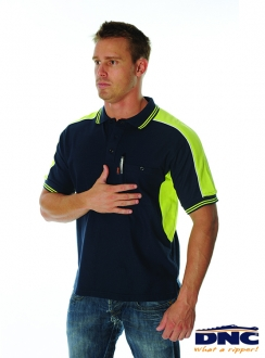 DNC PolyCotton Panel Polo Shirt