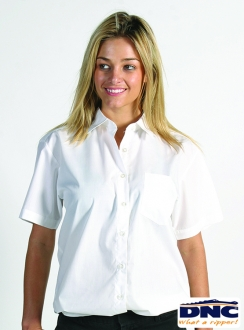 DNC Polyester Cotton Ladies Poplin S/S Shirt