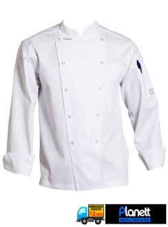 EXECUTIVE CHEFS LONG SLEEVE JACKET WITH PEN POCKET AND PRESS STUDS