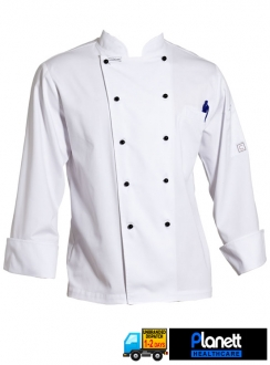 EXECUTIVE LONG SLEEVE CHEFS JACKETS WITH CHEST AND PEN POCKET