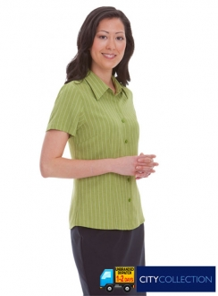 2152CC Ezylin Stripe Ladies S/S Shirt
