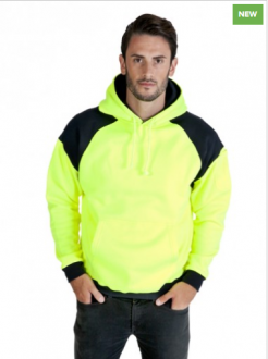 F303HPW Contract Hi Vis Fleece Hoodie Mens