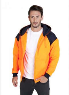 F303HWZ Contract Hi Vis Fleece Zip Hoodie Mens