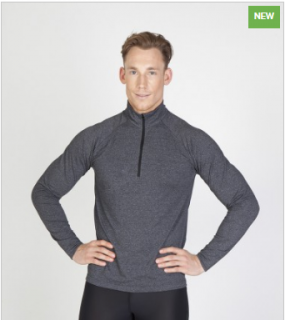 F389HZ Heather Half-Zip Mens