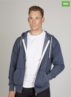 F750HZ Heather Brushed Fleece Zip hoodie Mens