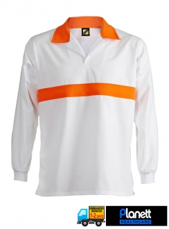 FOOD INDUSTRY JAC SHIRT WITH CONTRAST CHEST BAND