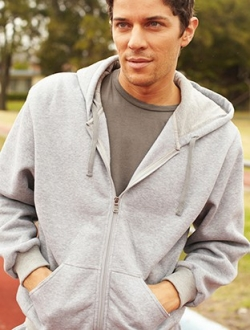 Full Zip Through Fleece Hoodie
