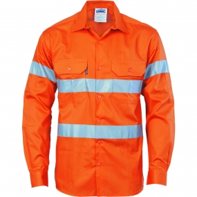 HIVIS D/N DRILL SHIRT LONG SLEEVE