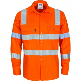HIVIS D/N L/W COTTON SHIRT