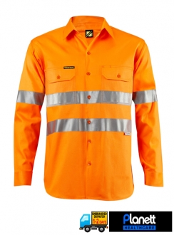 HI-VIS LIGHTWEIGHT TWO TONE LONG SLEEVE SHIRT