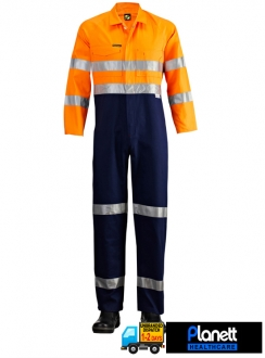 Hi-Vis Two Tone Coveralls With 3M 9920 Reflective Tape