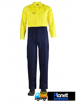 Hi-Vis Two Tone Poly/Cotton Coveralls