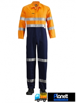 Hi-Vis Two Tone Coveralls With 3M Reflective Tape