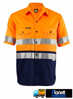 HI-VIS TWO TONE SHORT SLEEVE SHIRT