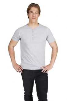 Henley Button Tee