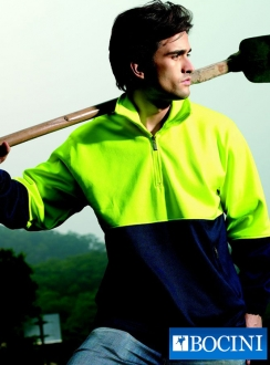 HiVis 1/2 ZIP Fleece