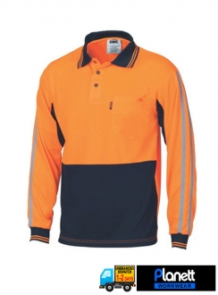 3756 HiVis Cool Breathe Stripe Polo