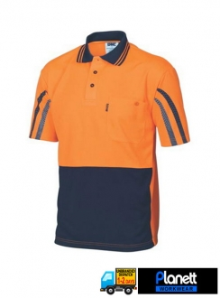 3752 HiVis Cool Breathe Printed Stripe Polo