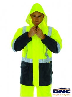 HiVis Light Weight Rain Jacket with 3M Tape