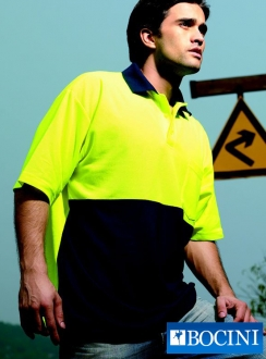 HiVis Poly/Cotton Polo -Short Sleeve