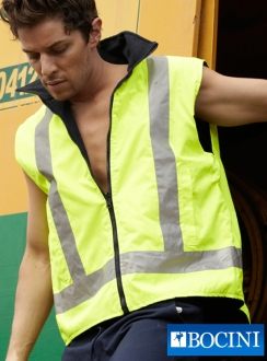 HiVis REVERSIBLE Vest with Reflective Tap