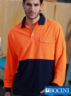 HiVis SAFETY Polo -Long Sleeve