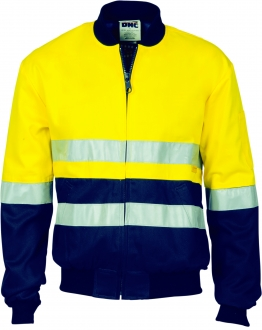 HiVis Two Tone D/N Cotton Bomber Jacket with 3m tape