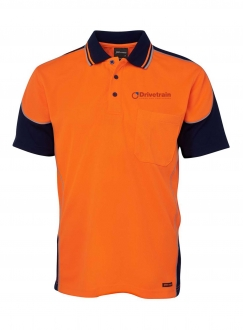 Hi Vis Contrast Piping Polo