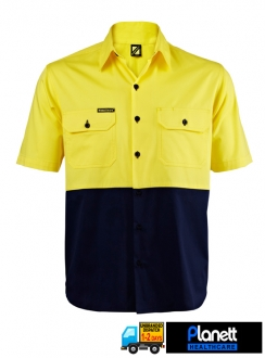 Hi Vis Lightweight Two Tone Short Sleeve Shirt