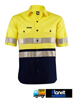 Hi-Vis Lightweight Two Tone Short Sleeve Shirt