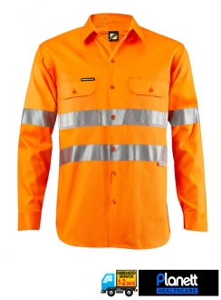 Hi-Vis Long Sleeve Shirt with 3M Reflective Tape