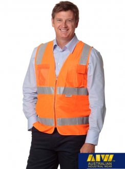 SW42 Unisex Hi-Vis Safety Vest With ID Pocket and 3M Tapes