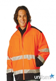 AIW HiVis Softshell Jacket With 3M Tape