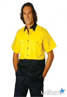 AIW HiVis Cotton Work Shirt